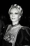 Monique Van Vooren attends Night of 100 Trees on December 16, 1982 at Studio 54 in New York City.
