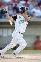 May 25, 2008: Jonathan Johnston (19) of the Kane County Cougars at bat against the Quad Cities River Bandits at Elfstrom Stadium in Geneva, IL. Photo by: Chris Proctor/Four Seam Images
