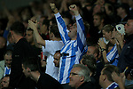 Blackburn Rovers 3, Huddersfield Town 1, 22/09/2005. Ewood Park, Carling Cup. A section of the 5000-plus Town fans cheering their team on during the second half. Photo by Colin McPherson.