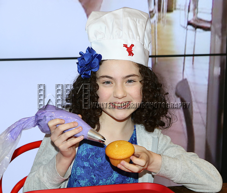Lilla Crawford, Star of 'ANNIE', Celebrates her 12th Birthday with fellow child actors of Broadway Shows  at the Cake Boss Cafe in New York City on 3/25/2013
