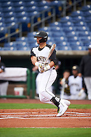 Alabama State Hornets Ray Hernandez (25) at bat during a game against the Ball State Cardinals on February 18, 2017 at Spectrum Field in Clearwater, Florida.  Ball State defeated Alabama State 3-2.  (Mike Janes/Four Seam Images)