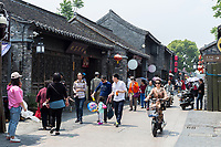 Yangzhou, Jiangsu, China.  Dong Guan Street.