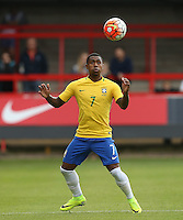 Malcom of Brazil controls the ball during the International match between England U20 and Brazil U20 at the Aggborough Stadium, Kidderminster, England on 4 September 2016. Photo by Andy Rowland / PRiME Media Images.