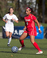Marist College midfielder Rycke Guiney (4) controls the ball at midfield. Boston College defeated Marist College, 6-1, in NCAA tournament play at Newton Campus Field, November 13, 2011.