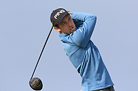 Conor Ryan (Dun Laoghaire) on the 1st tee during Round 3 of The West of Ireland Open Championship in Co. Sligo Golf Club, Rosses Point, Sligo on Saturday 6th April 2019.<br /> Picture:  Thos Caffrey / www.golffile.ie