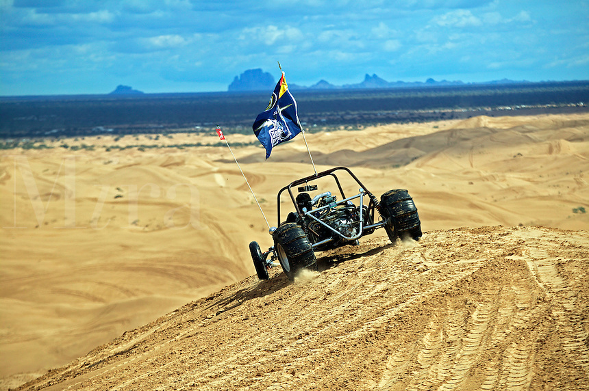 The off road vehicle recreation area of the Imperial Sand Dunes Recreation Area, Southern California.