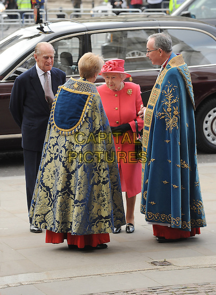 LONDON, ENGLAND - MARCH 10: Prince Philip, Duke of Edinburgh and HRH Queen Elizabeth II attend a Commonwealth Day Observance Service and Reception at Westminster Abbey on March 10, 2014 in London, England.<br /> CAP/BEL<br /> &copy;Tom Belcher/Capital Pictures
