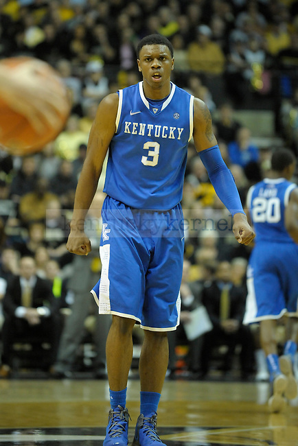 UK's forward Terrence Jones during the second half of the University of Kentucky men's basketball game against Vanderbilt at Memorial Gym in Nashville, Tennessee., on Feb. 11, 2012. UK won 69-63. Photo by Mike Weaver | Staff