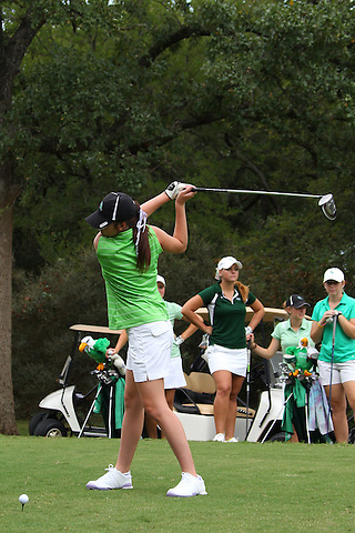 Denton, TX - AUGUST 31: University of North Texas Women's Golf Team Taylor Kilponen at Bridlewood Country Club on August 31, 2012 in Flower Mound, Texas. (Photo by Rick Yeatts)