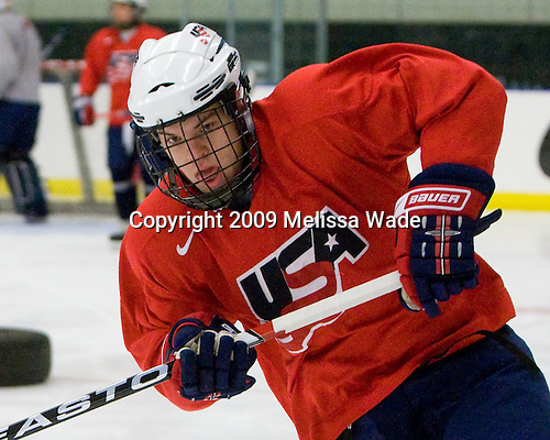 Jeremy Morin (US - 11) - The US practiced the morning of Sunday, April 19, 2009, prior to their gold medal game against Russia in the 2009 World Under 18 Championship at the Urban Plains Center in Fargo, North Dakota.