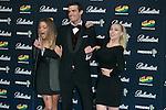 Alyson Eckmann, Uri Sabat and Daniela Blume attend the 40 Principales Awards at Barclaycard Center in Madrid, Spain. December 12, 2014. (ALTERPHOTOS/Carlos Dafonte)