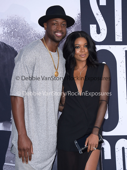 Gabrielle Union and Dwyane Wade attends The Universal Pictures' STRAIGHT OUTTA COMPTON World Premiere held at The Microsoft Theatre  in Los Angeles, California on August 10,2015                                                                               © 2015 Hollywood Press Agency