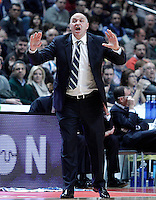 Real Madrid's coach Pablo Laso during Euroleague 2012/2013 match.January 11,2013. (ALTERPHOTOS/Acero) NortePHOTO