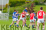 Padraig Murphy Laune Rangers and Roibeard O Se West Kerry contest the kick out  during their County SFC round 1 game in Killorglin on Sunday