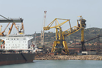 - industrial harbour in Piombino....- porto industriale a Piombino