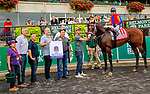 "OCTOBER 7, 2018 : Uncle Benny, ridden by Irad Ortiz Jr, wins the ""Win & You're In"" Futurity Stakes at Belmont Park on October 6, 2018 in Elmont, NY.  Sue Kawczynski/ESW/CSM"
