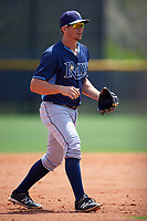 Tampa Bay Rays Kevin Padlo (26) during a minor league Spring Training game against the Boston Red Sox on March 23, 2016 at Charlotte Sports Park in Port Charlotte, Florida.  (Mike Janes/Four Seam Images)