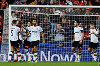 5th November 2019; Mestalla, Valencia, Spain; UEFA Champions League Football,Valencia versus Lille; Geoffrey Kondogbia of Valencia CF celebrates with his team mates after scoring in minute 84' the third goal for his team (3-1) - Editorial Use