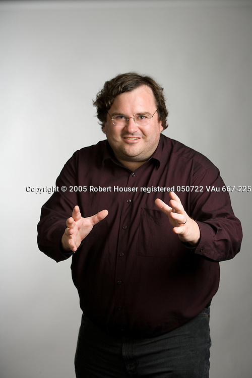 Reid Hoffman - CEO - LinkedIn: Executive portrait photographs by San Francisco - corporate and annual report - photographer Robert Houser.