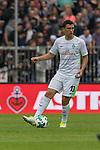 22.07.2017, Millerntor-Stadion, Hamburg, GER, FSP, FC St. Pauli vs SV Werder Bremen<br /> <br /> im Bild<br /> Milos Veljkovic (Werder Bremen #13) am Ball, <br /> <br /> Foto &copy; nordphoto / Ewert