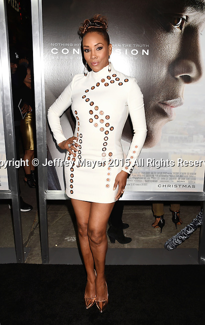 WESTWOOD, CA - NOVEMBER 23: Actress Vivica A. Fox attends the screening of Columbia Pictures' 'Concussion' at the Regency Village Theater on November 23, 2015 in Westwood, California.