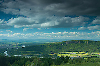 Kinnoull Hill and the River Tay from Moredun Hill Fort, Moncrieffe Hill, Perth, Perthshire
