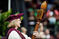 MSU Spring Graduation at Humphrey Coliseum - mace bearer Grisham Master Teacher Kelly Marsh.<br />  (photo by Megan Bean / &copy; Mississippi State University)