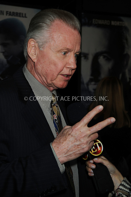 WWW.ACEPIXS.COM . . . . .  ....October 15 2008, New York City....Actor Jon Voight arriving at the premiere of 'Pride and Glory' at AMC Loews Lincoln Square 13 Theatres on October 15, 2008 in New York City.....Please byline: AJ Sokalner - ACEPIXS.COM..... *** ***..Ace Pictures, Inc:  ..te: (646) 769 0430..e-mail: info@acepixs.com..web: http://www.acepixs.com