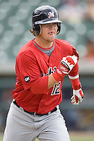 Hoffpauir, Jarrett 0052.jpg. Memphis Redbirds at Round Rock Express in Pacific Coast League Baseball. Dell Diamond on April 26th 2009 in Round Rock, Texas. Photo by Andrew Woolley.