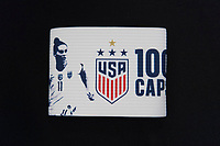CHARLOTTE, NC - OCTOBER 3: The captain's armband of Ali Krieger #11 of the United States during a game between Korea Republic and USWNT at Bank of America Stadium on October 3, 2019 in Charlotte, North Carolina.