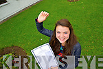 Sarah-Jo Lynch, Blennerville, Tralee, who received 11 A's in her Junior Cert on Wednesday morning.