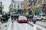 The start of the 2019 Liège-Bastogne-Liège Femmes, running 138.5km from Bastogne to Liege, Belgium. 28th April 2019<br /> Picture: ASO/Thomas Maheux | Cyclefile<br /> All photos usage must carry mandatory copyright credit (© Cyclefile | ASO/Thomas Maheux)
