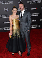 Actress Jaime King &amp; husband Kyle Newman at the world premiere of &quot;Rogue One: A Star Wars Story&quot; at The Pantages Theatre, Hollywood. <br /> December 10, 2016<br /> Picture: Paul Smith/Featureflash/SilverHub 0208 004 5359/ 07711 972644 Editors@silverhubmedia.com
