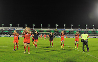 14th December 2013; Toulouse players applaud their traveling supporters at the end of the game. Heineken Cup Pool 3, round 4, Connacht v Toulouse, The Sportsground, Galway. Picture credit: Tommy Grealy/actionshots.ie.