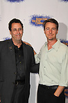 """Playwright Tony Kushner & Edward Norton at the Opening Night party of Signature Theatre Company's """"The Illusion"""" on June 5, 2001 at the West Bank Cafe with the play at the Peter Norton Space, New York City, New York.  (Photo by Sue Coflin/Max Photos)"""