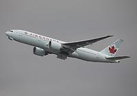 An Air Canada Boeing 777-233(LR) Registration C-FIVK at Hong Kong Chek Lap Kok International Airport on 4.4.19 going to Toronto Pearson International Airport, Canada.