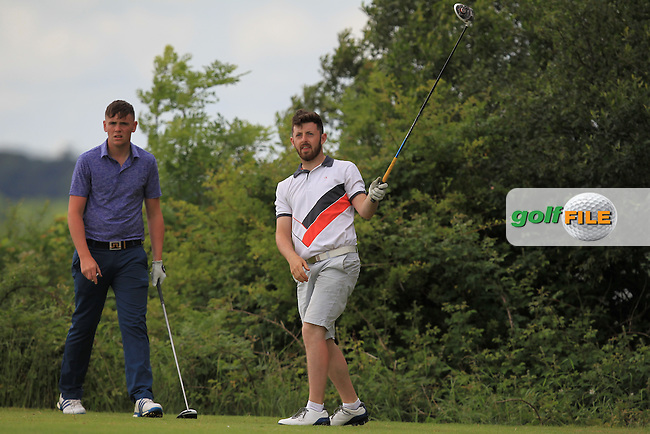 Robert Brazill (Naas) and Liam Grehan (Mullingar) on the 7th tee during Round 4 of the 2016 Connacht Strokeplay Championship at Athlone Golf Club on Sunday 12th June 2016.<br /> Picture:  Golffile | Thos Caffrey