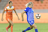 Houston, TX - Saturday July 22, 2017: Adriana Leon during a regular season National Women's Soccer League (NWSL) match between the Houston Dash and the Boston Breakers at BBVA Compass Stadium.