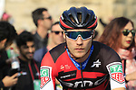 Dylan Theuns (BEL) BMC Racing Team at sign on before the start of the 112th edition of Il Lombardia 2018, the final monument of the season running 241km from Bergamo to Como, Lombardy, Italy. 13th October 2018.<br /> Picture: Eoin Clarke | Cyclefile<br /> <br /> <br /> All photos usage must carry mandatory copyright credit (© Cyclefile | Eoin Clarke)