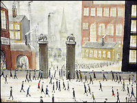 BNPS.co.uk (01202 558833)<br /> Pic: BoltonAuctionRooms/BNPS<br /> <br /> &quot;Going to work&quot; signed and dated L.S. Lowry 1925 but actually painted by Bolton artist Shaun Greenhalgh in 2015.<br /> <br /> Imitations of L.S Lowry paintings by one of the most prolific art forgers in British history are set to go under the hammer. <br /> <br /> Shaun Greenhalgh served a four year prison sentence for swindling unwitting museums, dealers and collectors out of &pound;1,000,000 over 17 years. <br /> <br /> Since his release from prison in 2010 Greenhalgh has continued painting and now three of his L.S Lowry 'imitations' are set to sell 'within the confines of the law'. <br /> <br /> The three paintings, each produced in 2015, will be sold by Bolton Auction Rooms in Lancashire, on February 20.