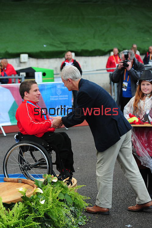 IPC European Athletics Championship 2014<br /> Swansea University<br /> <br /> Medal ceremony: Men's 800m T54.<br /> <br /> 21.08.14<br /> Chris Vaughan-SPORTINGWALES