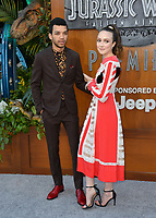 Justice Smith &amp; Raffaella Meloni  at the premiere for &quot;Jurassic World: Fallen Kingdom&quot; at the Walt Disney Concert Hall, Los Angeles, USA 12 June 2018<br /> Picture: Paul Smith/Featureflash/SilverHub 0208 004 5359 sales@silverhubmedia.com