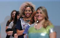 SAO PAULO, SP, 21.07.2013 - FWPS - VERÃO 2013/14 -  Modelo durante desfile da grife Enfase no Fashion Weekend Plus Size no Memorial da América Latina região oeste de São Paulo, neste domingo, 21 (Foto: Vanessa Carvalho / Brazil Photo Press).