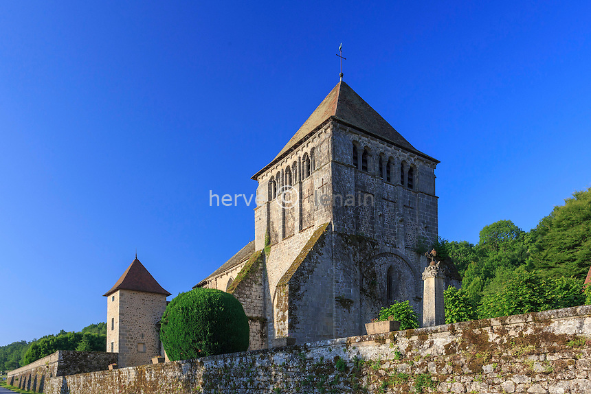 France, Creuse (23), Moutier-d'Ahun, abbaye de Moutier-d'Ahun // France, Creuse, Moutier-d'Ahun, Moutier d'Ahun abbey