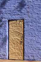 The wall colors of Jaisalmer, India