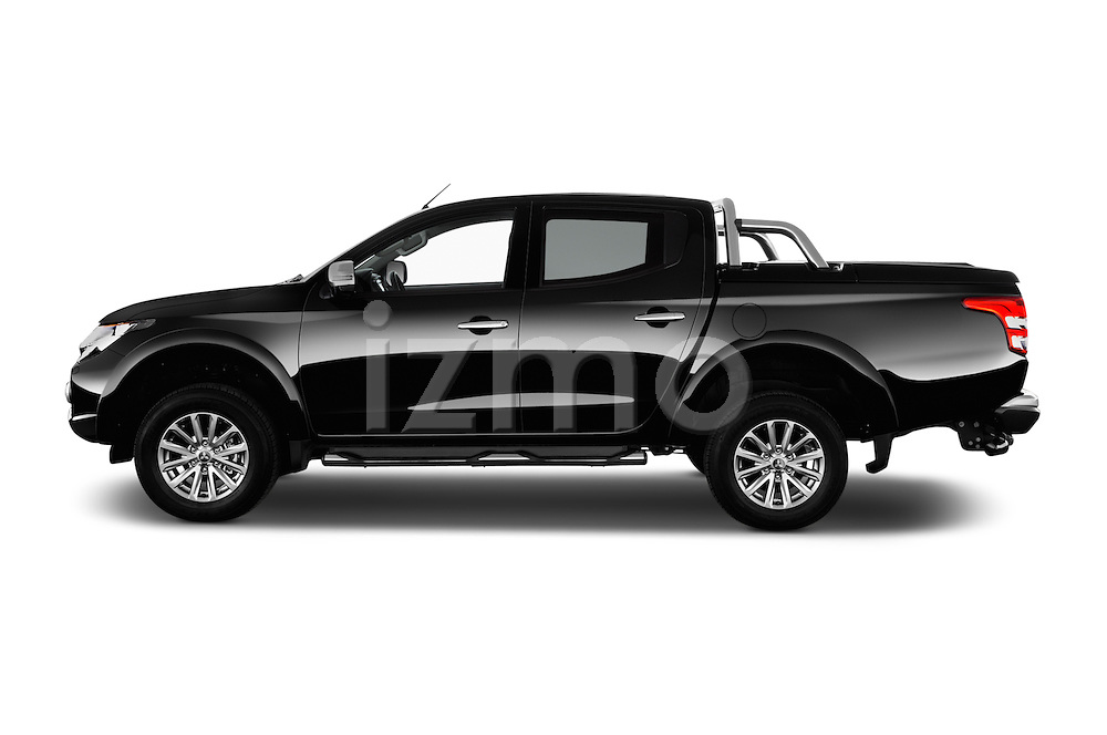 Car Driver side profile view of a 2016 Mitsubishi L 200 Intense 4 Door Pickup Side View