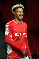 Lyle Taylor celebrates Charlton's victory at the final whistle during Charlton Athletic vs Burton Albion, Sky Bet EFL League 1 Football at The Valley on 12th March 2019