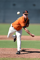 San Francisco Giants pitcher Sam Coonrod (50) during an Instructional League game against the Oakland Athletics on October 13, 2014 at Giants Baseball Complex in Scottsdale, Arizona.  (Mike Janes/Four Seam Images)