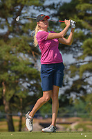 Maude-Aimee Leblanc (CAN) watches her tee shot on 3 during round 3 of the 2018 KPMG Women's PGA Championship, Kemper Lakes Golf Club, at Kildeer, Illinois, USA. 6/30/2018.<br /> Picture: Golffile | Ken Murray<br /> <br /> All photo usage must carry mandatory copyright credit (&copy; Golffile | Ken Murray)