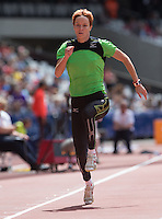 Jana VELDAKOVA (SVK) warms up for the Long Jump during the Sainsburys Anniversary Games at the Olympic Park, London, England on 25 July 2015. Photo by Andy Rowland.